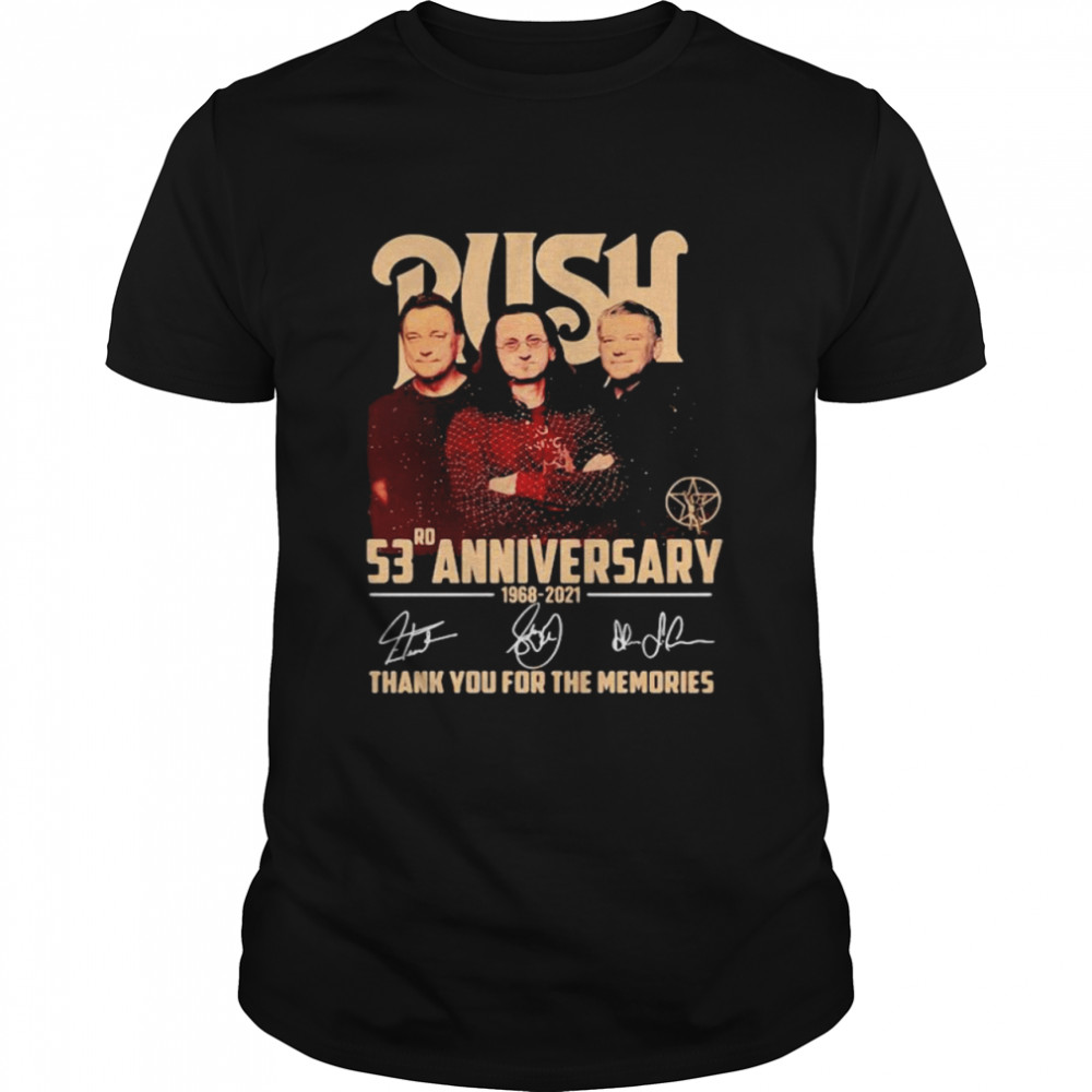 Push 53rd Anniversary 1968 2021 Thank You For The Memories Signature  Classic Men's T-shirt