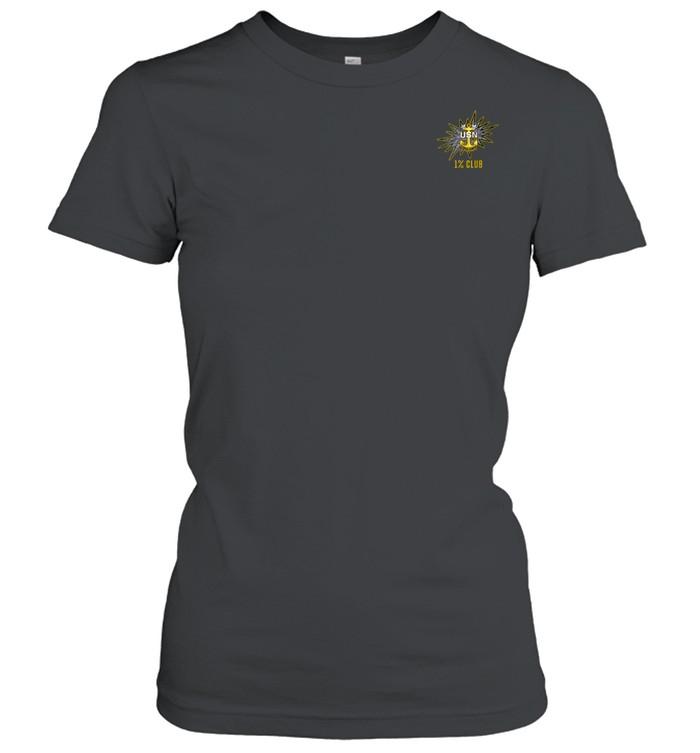 1% Club Navy Master Chief E9 MCPO Pride  Classic Women's T-shirt