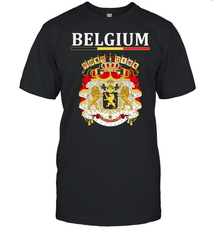 Flagge Belgien Wappen Belgien Belgische Flagge  Classic Men's T-shirt