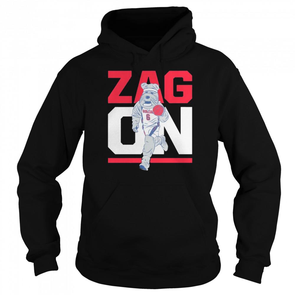 Gonzaga Bulldogs zag on shirt Unisex Hoodie