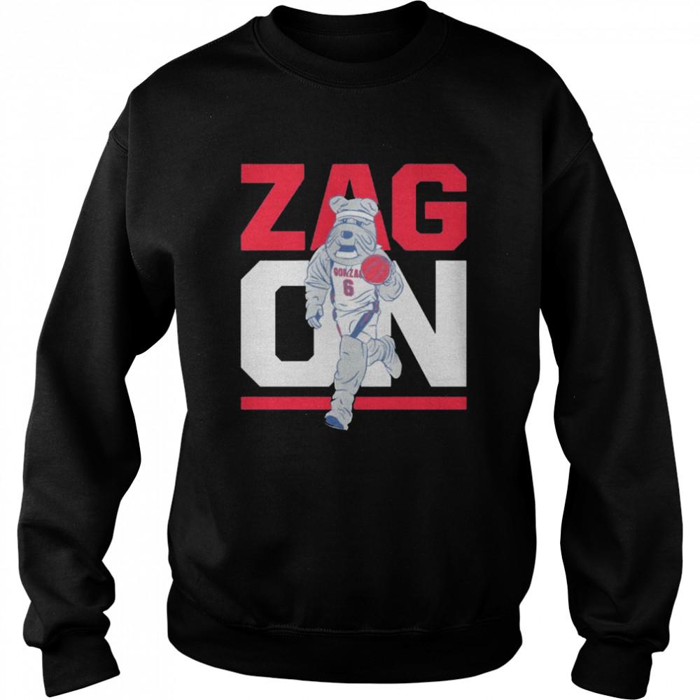 Gonzaga Bulldogs zag on shirt Unisex Sweatshirt
