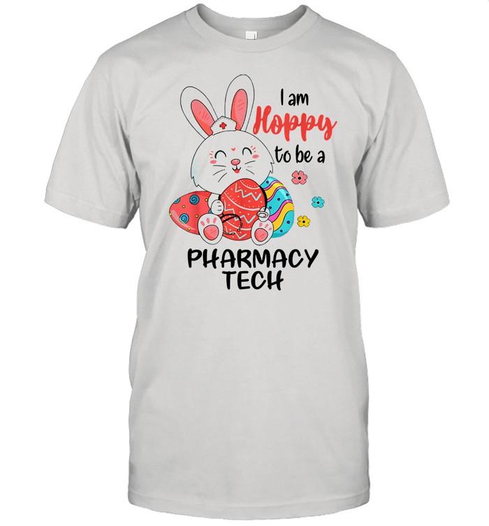 I Am Hoppy To Be A Pharmacy Tech Nurse Easter Day  Classic Men's T-shirt