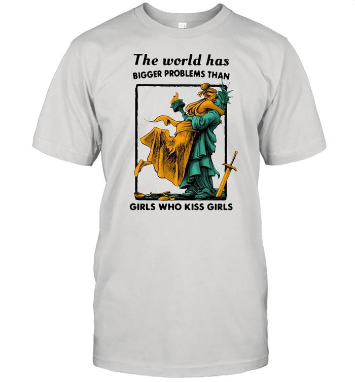 LGBT The World Has Bigger Problems Than Girls Who Kiss Girls T-shirt Classic Men's T-shirt