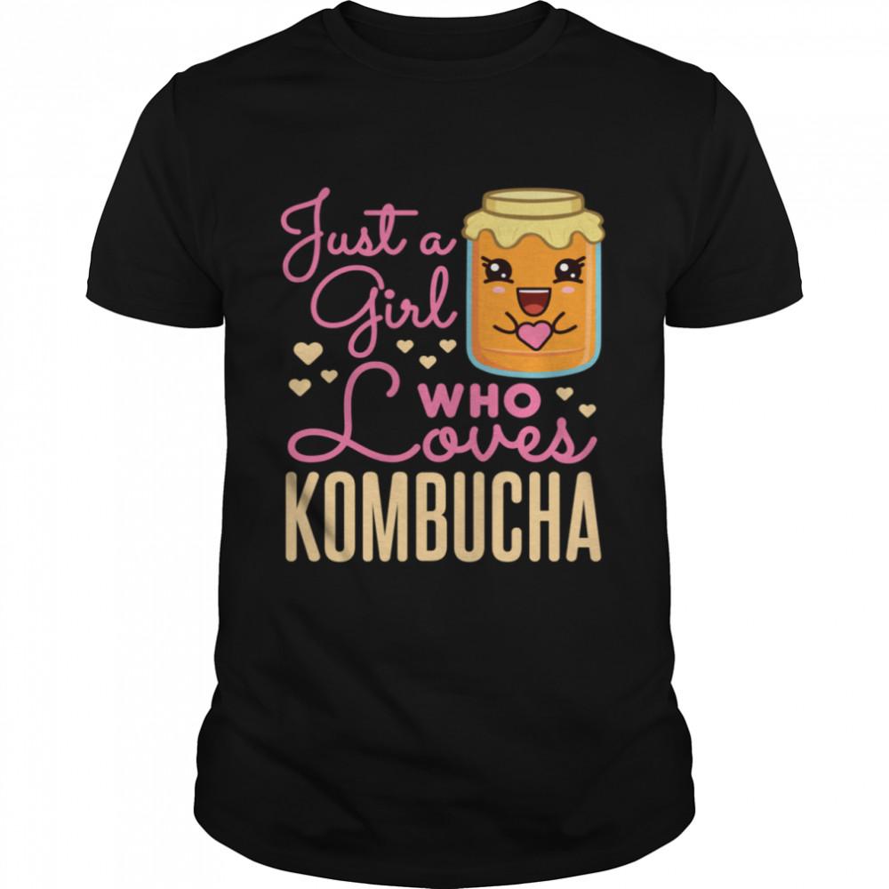 Just a Girl Who Loves Kombacha Tea Kawaii Scobies Scoby  Classic Men's T-shirt