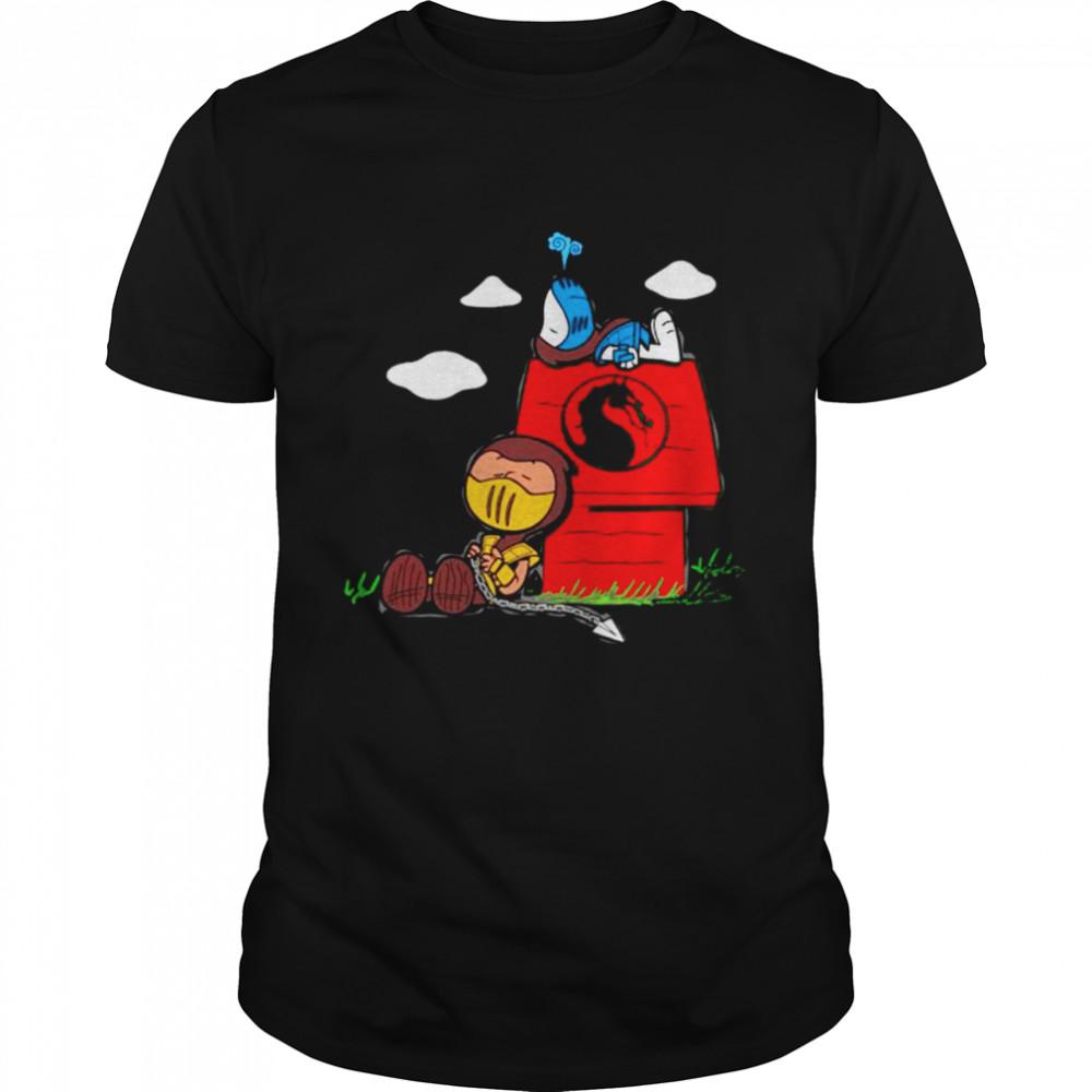 Snoopy and Charlie Brown mashup Mortal Kombat shirt Classic Men's T-shirt