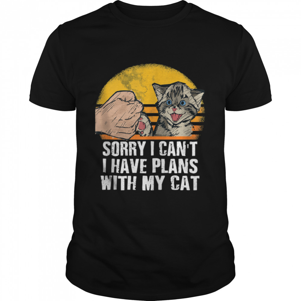 Sorry I Can't I Have Plans with My Cat Introvert  Classic Men's T-shirt