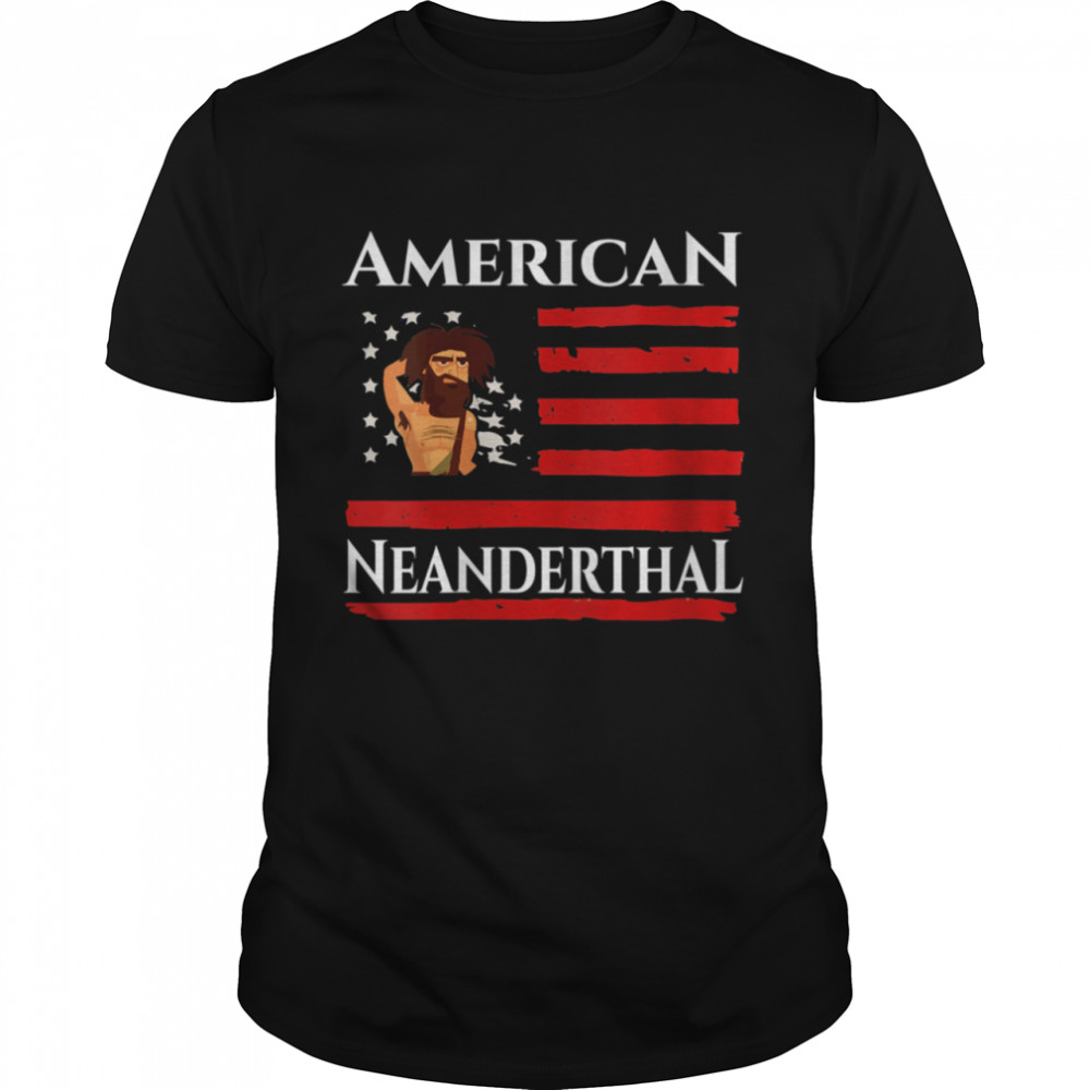American Neanderthal US Flag Proud  Classic Men's T-shirt