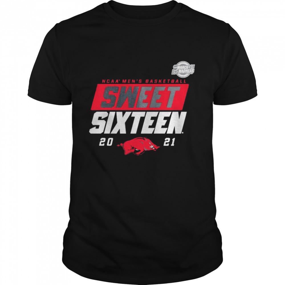 Arkansas Razorbacks 2021 NCAA men's basketball Sweet Sixteen shirt Classic Men's T-shirt