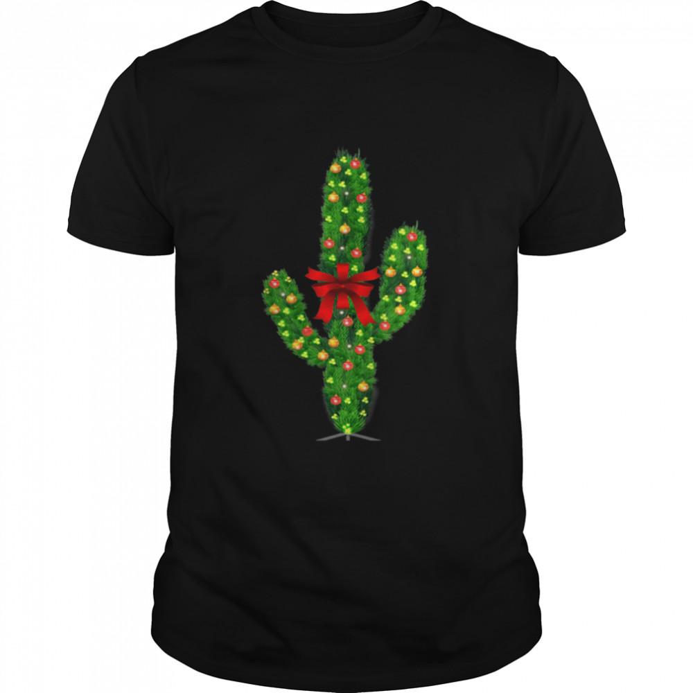 Christmas Cactus Vintage Matching Pajamas  Classic Men's T-shirt