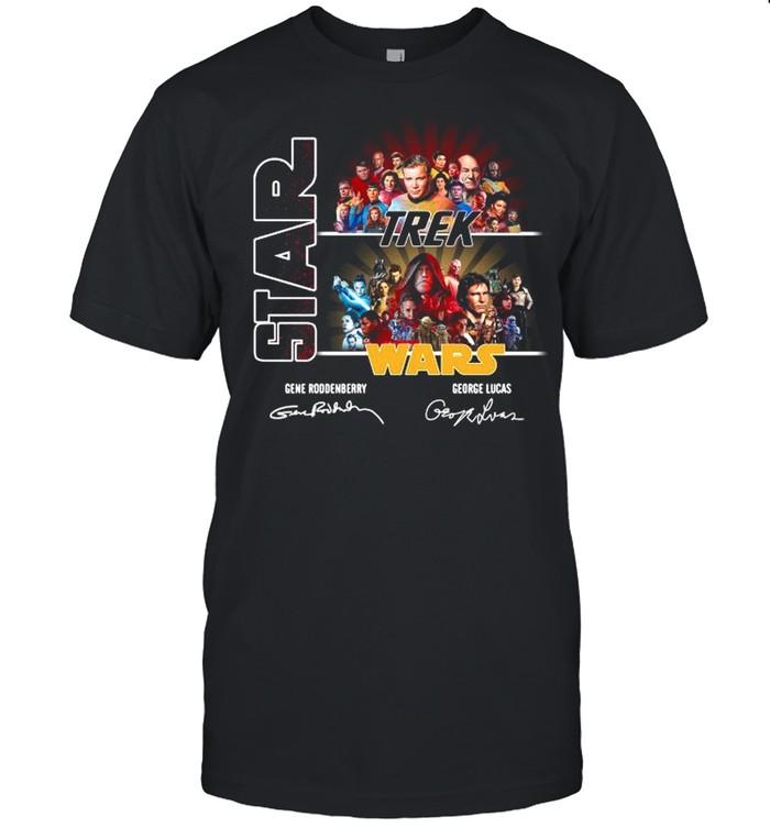 Star Trek Wars Characters Signatures shirt Classic Men's T-shirt