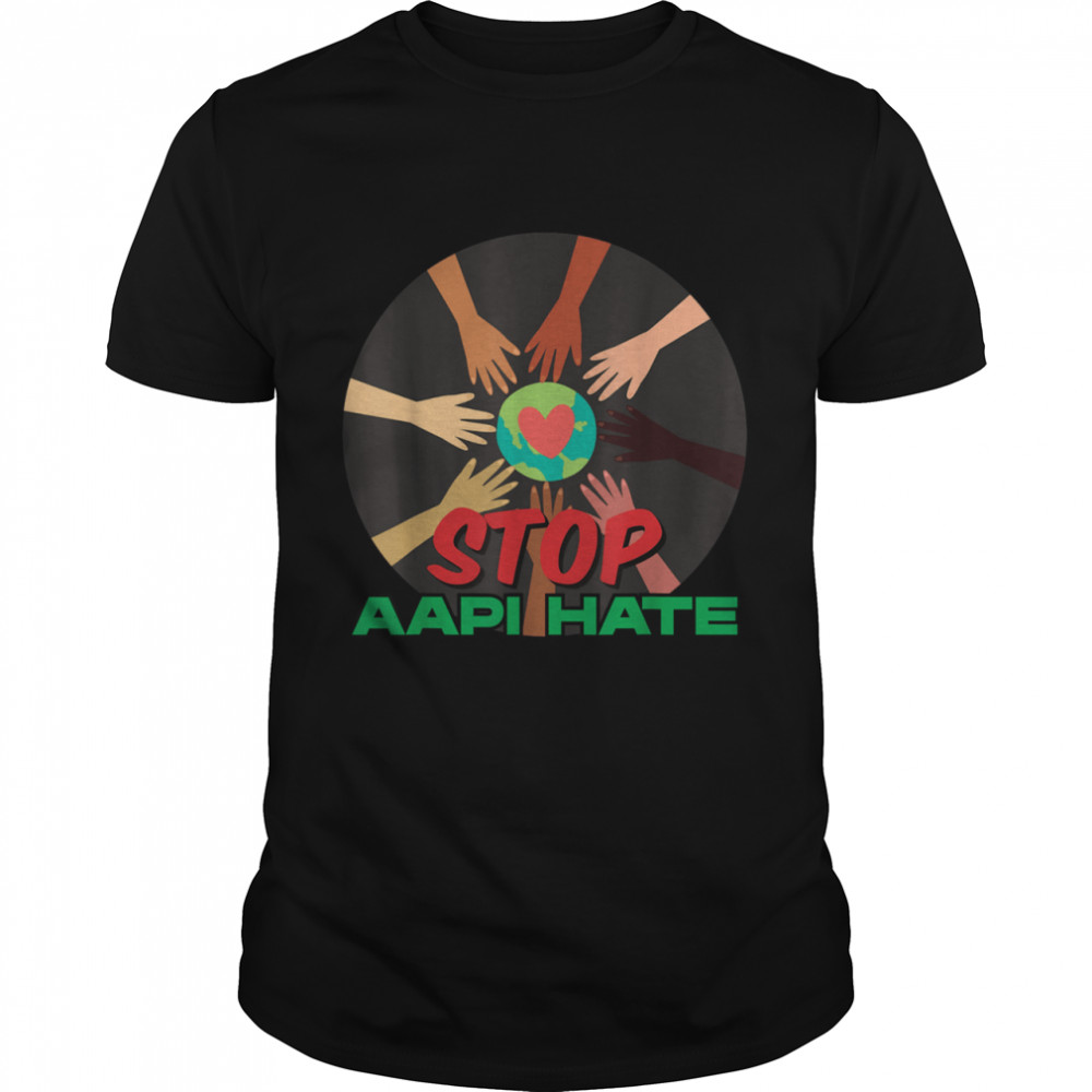 Stop Asian Hate Raised Fist AAPI Support Awareness  Classic Men's T-shirt