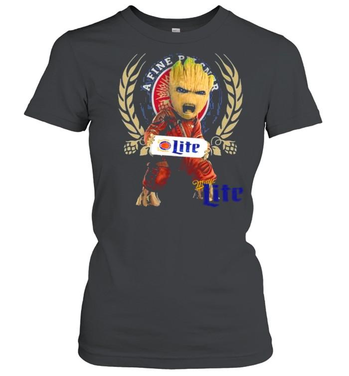 Baby Groot Hug A Fine Pilsner Lite Logo  Classic Women's T-shirt