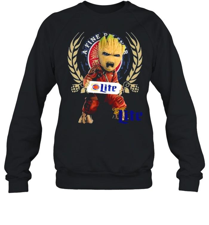 Baby Groot Hug A Fine Pilsner Lite Logo  Unisex Sweatshirt