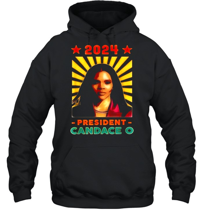 Candace Owens for Republican Party President 2024, Retro  Unisex Hoodie