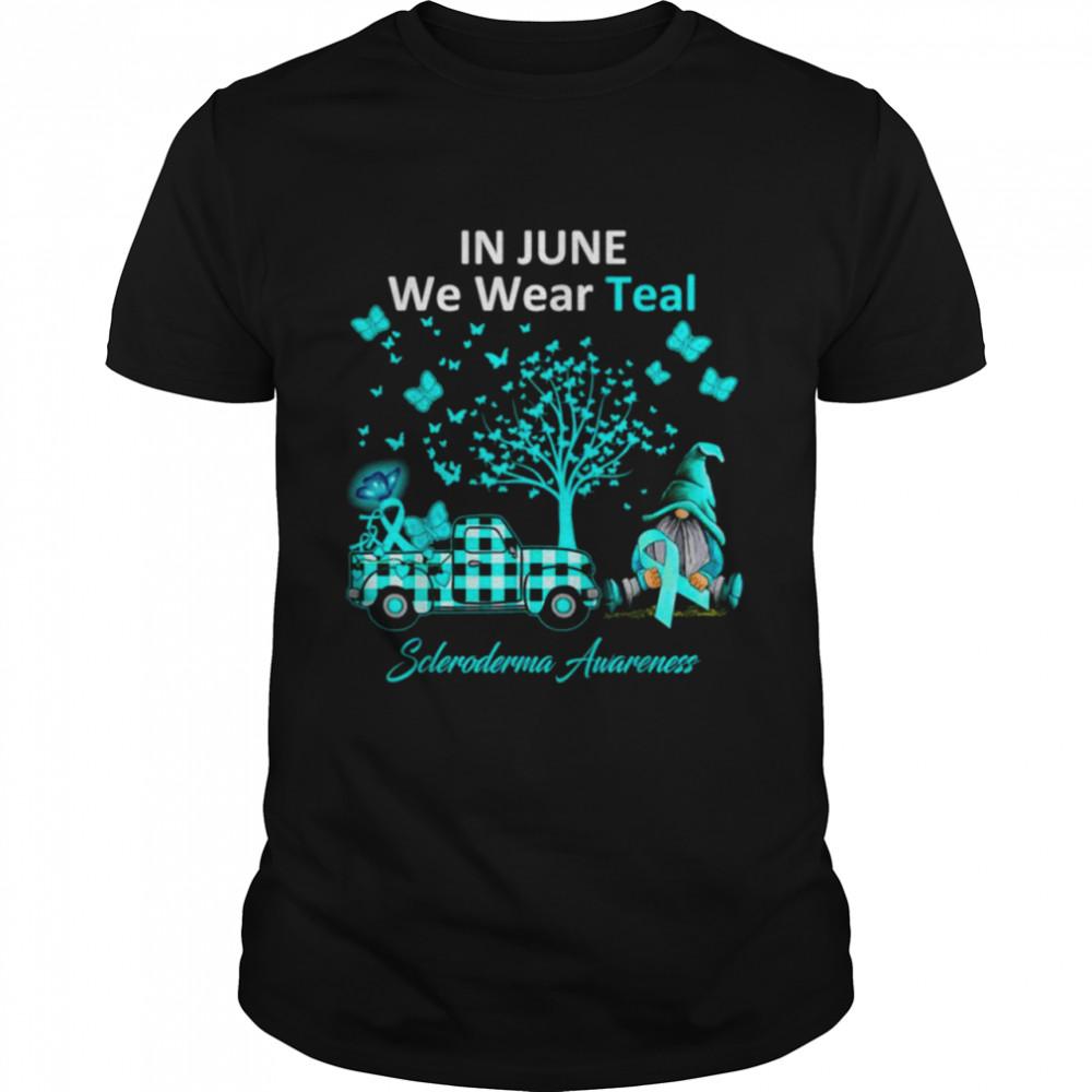 In June We Wear Teal Scleroderma Awareness Gifts  Classic Men's T-shirt