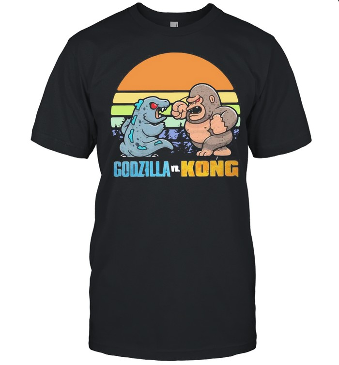 One Will Fall Godzilla And Kong Thank You For The Memories 2021 Vintage Retro T-shirt Classic Men's T-shirt
