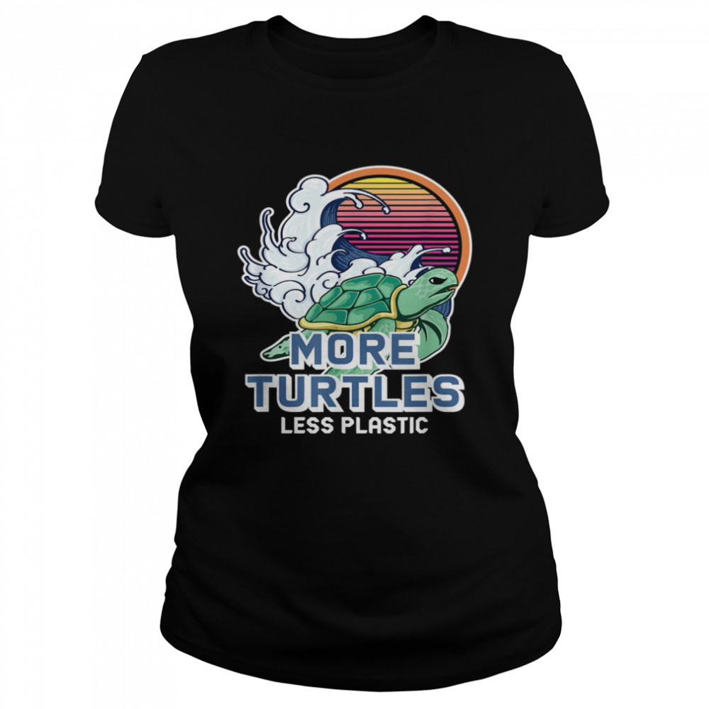 Turtle Girl Save the Turtles Earth Day  Classic Women's T-shirt