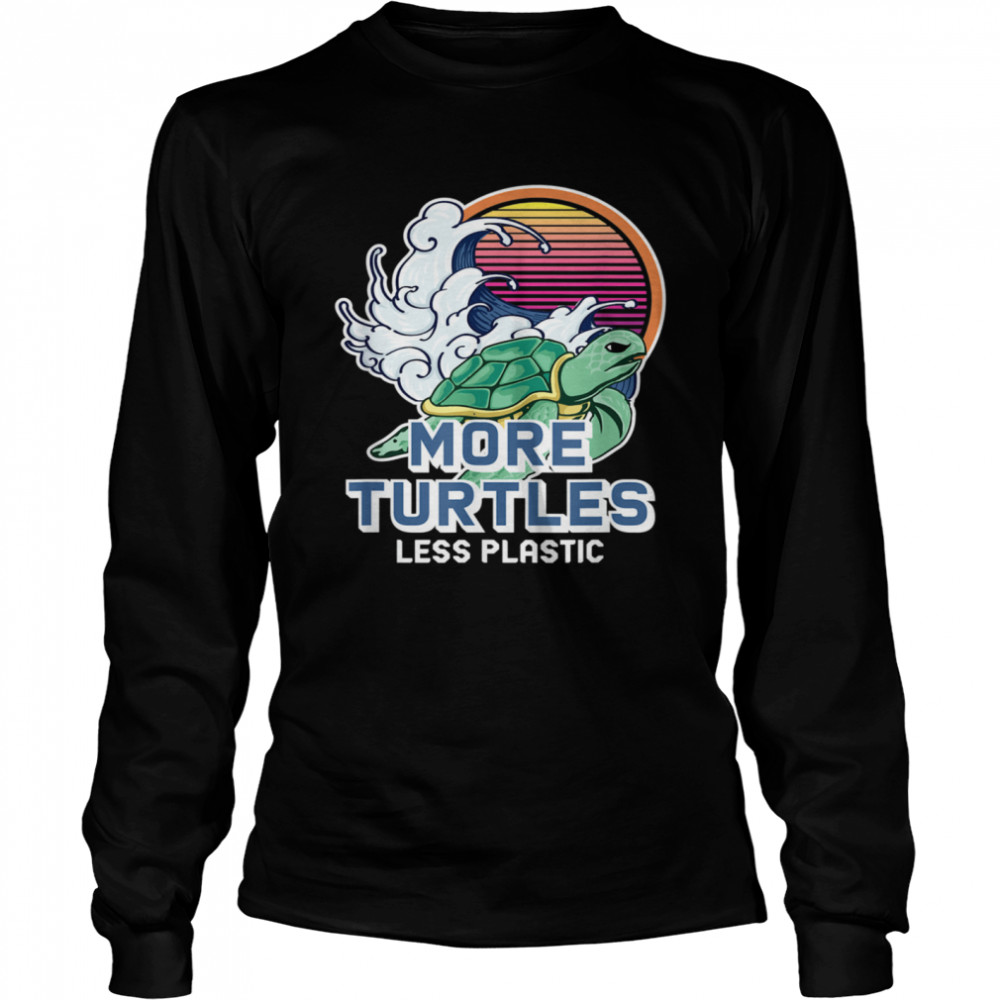 Turtle Girl Save the Turtles Earth Day  Long Sleeved T-shirt