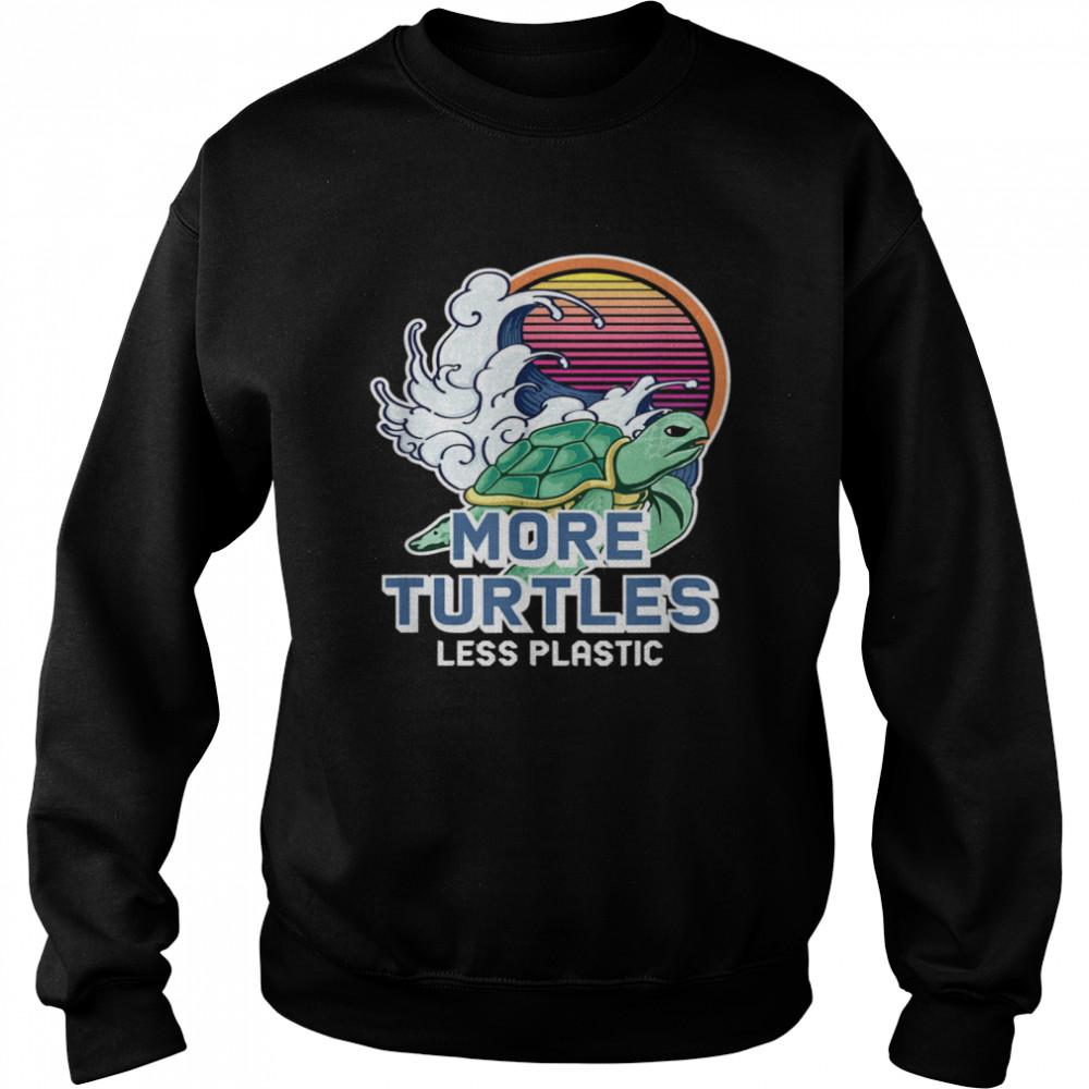 Turtle Girl Save the Turtles Earth Day  Unisex Sweatshirt