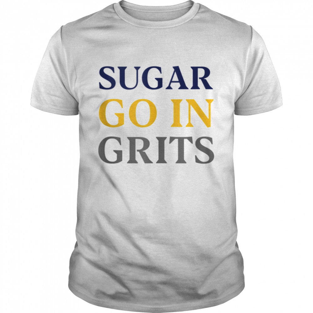 GGT Blue Yellow Sugar Go In Grits Southern Food Debate  Classic Men's T-shirt