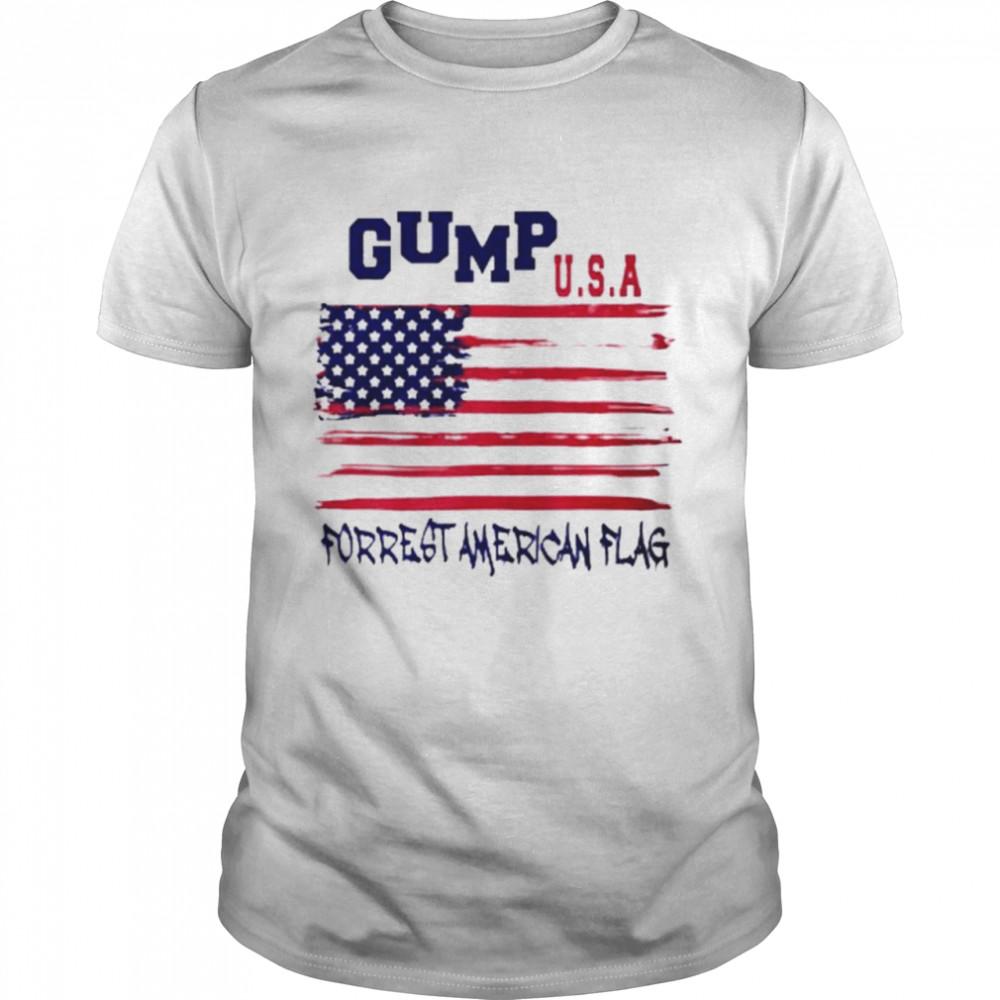 Gump USA forrest American flag shirt Classic Men's T-shirt