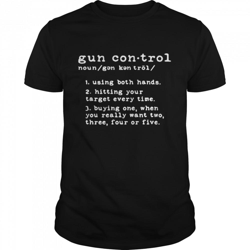 Hot gun control using both hands hitting your target every time shirt Classic Men's T-shirt