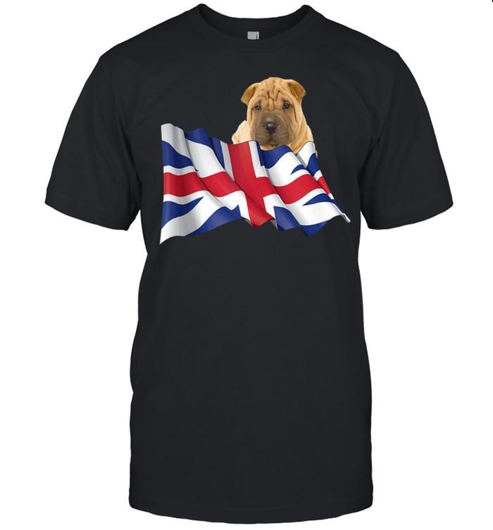 Union Jack Flag Dog Chinese SharPei shirt Classic Men's T-shirt