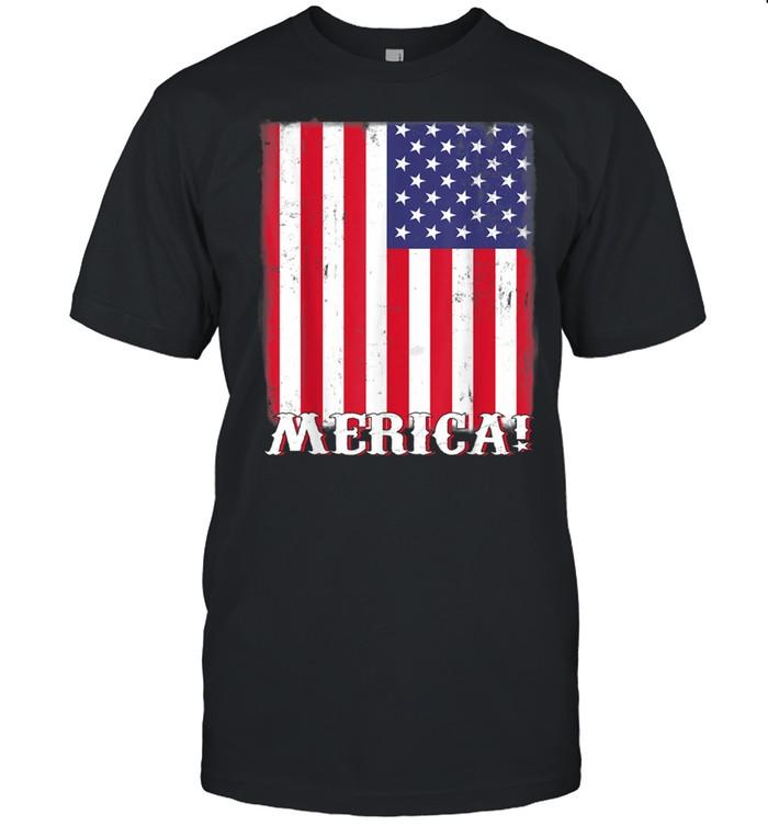 4th Of July US American Flag Patriotic  Classic Men's T-shirt