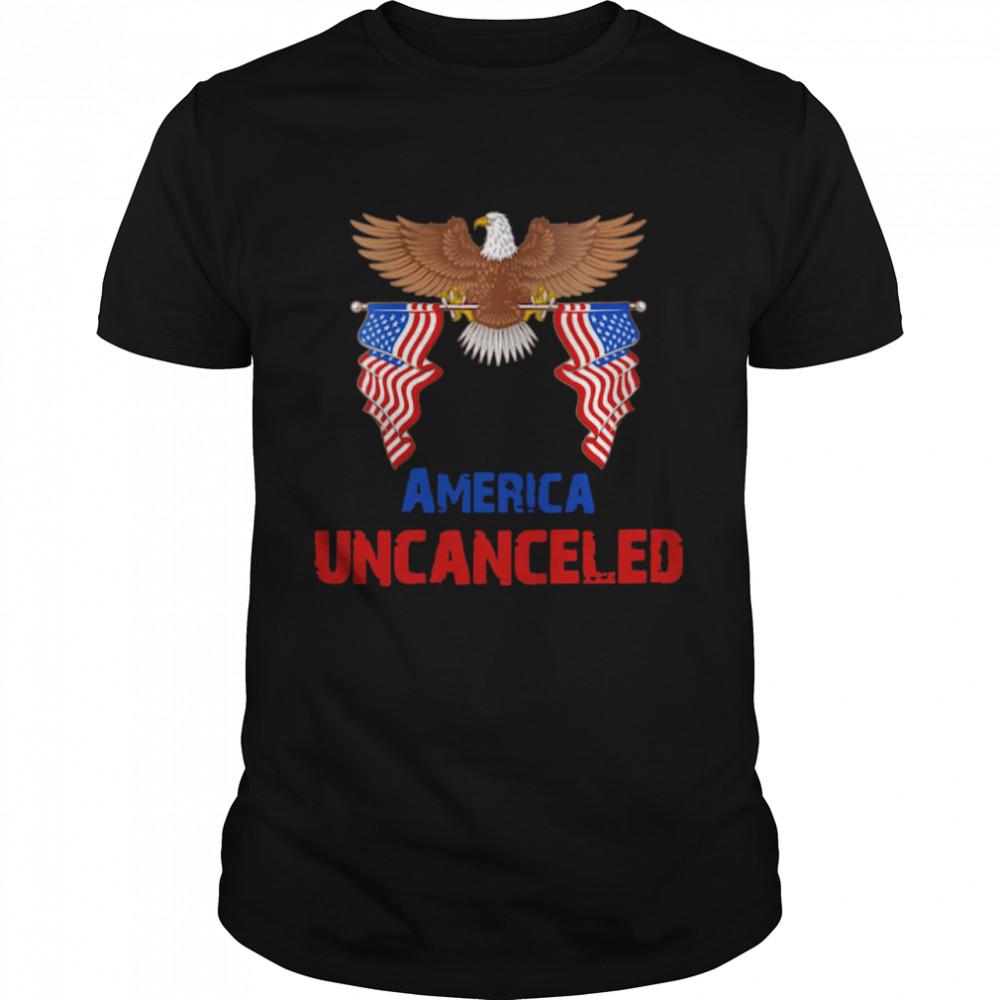 American Flag America Uncanceled Eagle T-shirt Classic Men's T-shirt