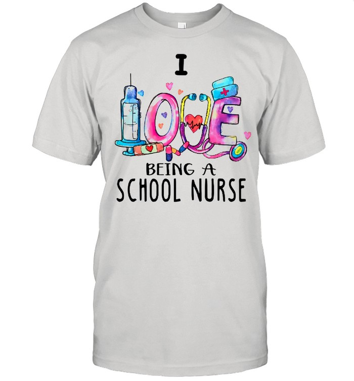 Love Being A School Nurse White shirt Classic Men's T-shirt