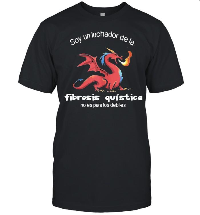 Soy Un Luchador De La Fibrosis Quística Con Dragon T-shirt Classic Men's T-shirt