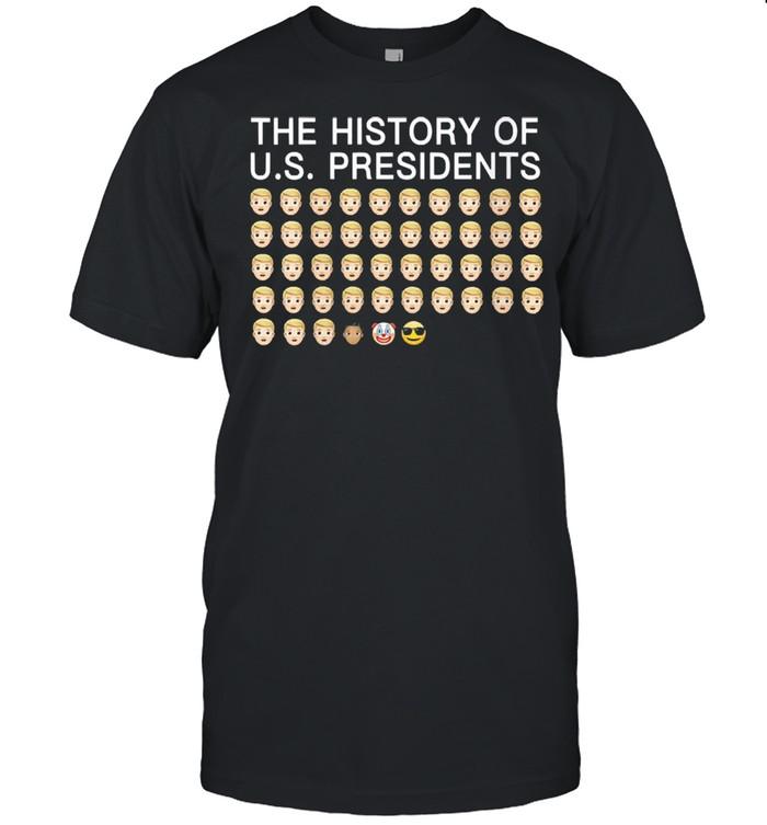 Emojis history of us presidents biden shirt Classic Men's T-shirt