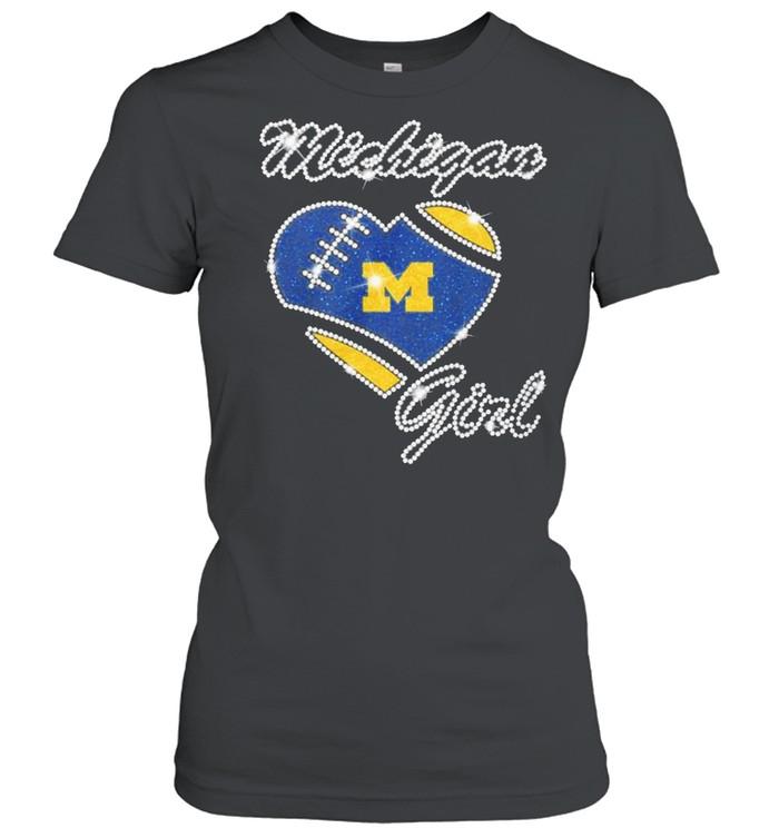 Heart Michigan Girl Diamond shirt Classic Women's T-shirt