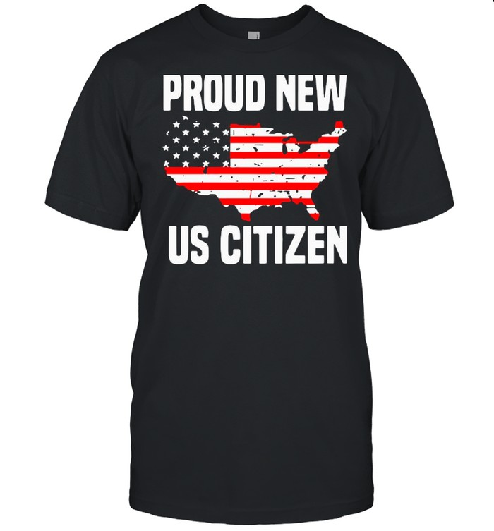 Proud New Us Citizen American Flag shirt Classic Men's T-shirt