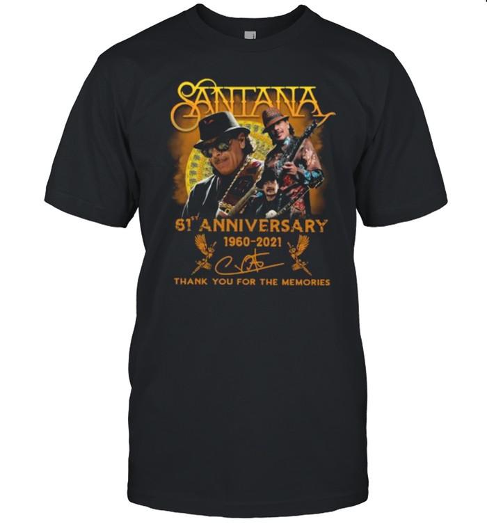 Santana 61st Anniversary 1960 2021 Thank You For The Memories Signature shirt Classic Men's T-shirt