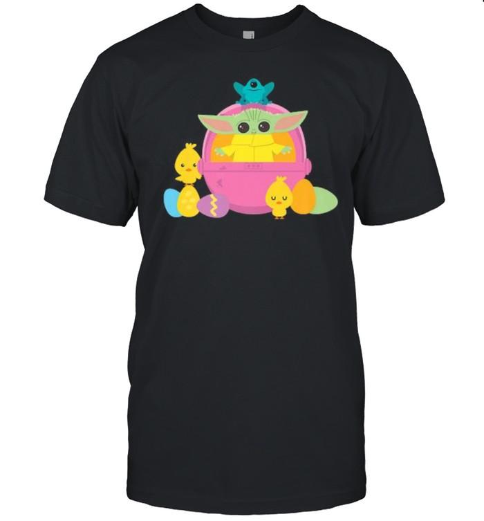 Star Wars The Mandalorian The Child Happy Easte baby yoda shirt Classic Men's T-shirt