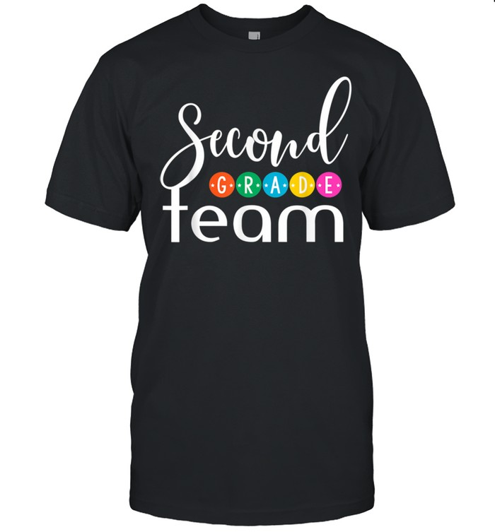 2nd Grade Team 2nd Grade Squad Group Of 2nd Grade Teacher shirt Classic Men's T-shirt