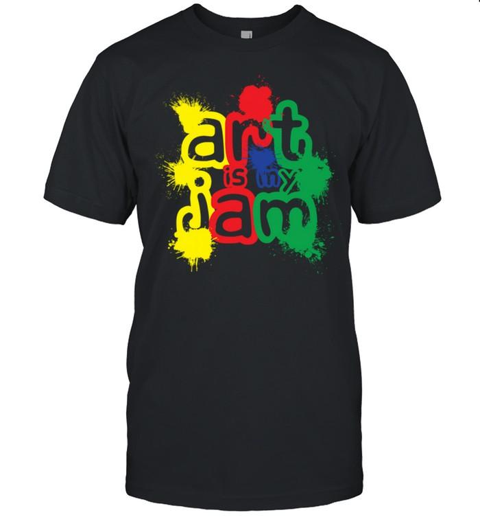 Arts Are My Jam Art Teacher Student Appreciation Artist shirt Classic Men's T-shirt
