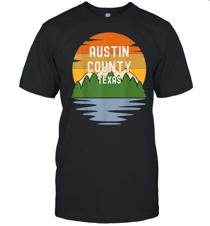 Austin County Texas Vintage Sunset shirt Classic Men's T-shirt