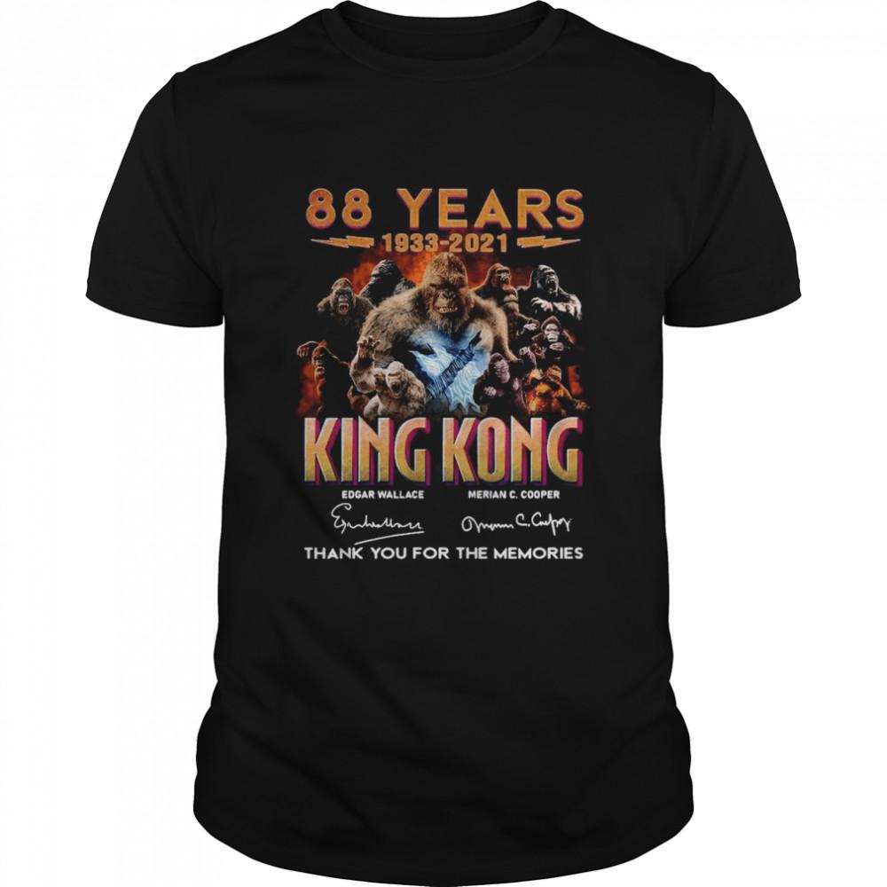 88 Years 1933 2021 King Kong Signatures Thank You shirt Classic Men's T-shirt