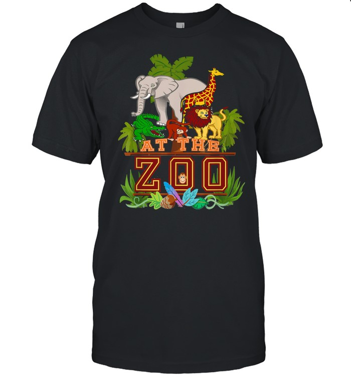 A Day at the Zoo Birthday Party Cute Wild Fun Jungle Animals  Classic Men's T-shirt