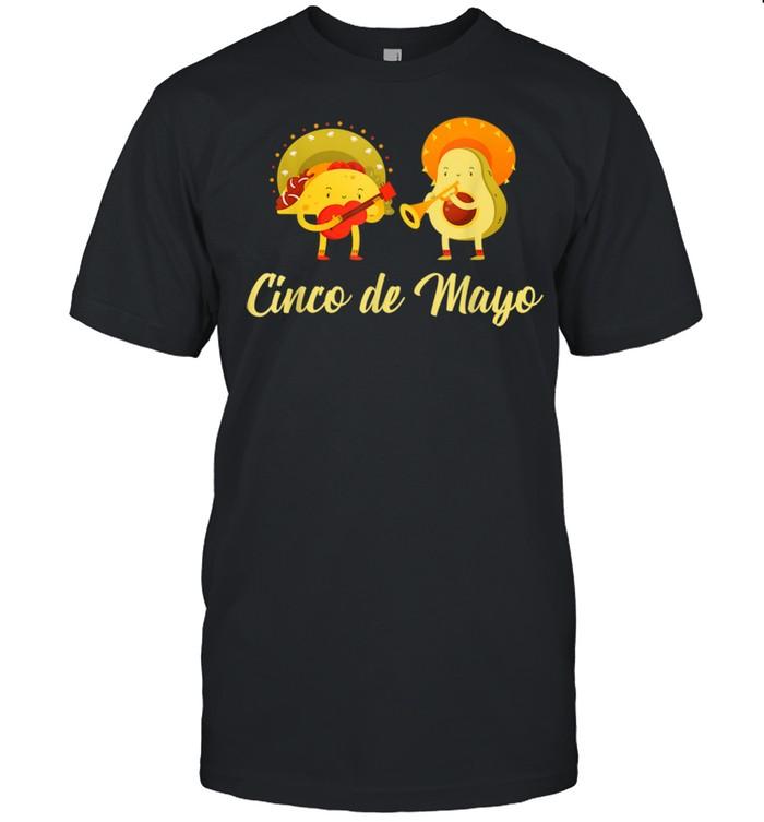Cinco de Mayo Avocado Taco Party Team  Classic Men's T-shirt