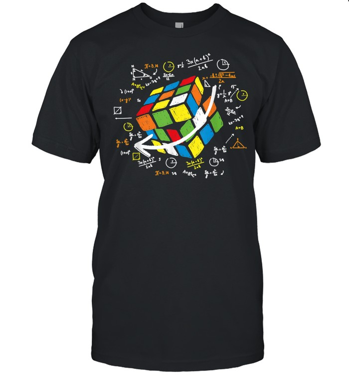 Cool Math Rubik Rubix Rubics Player Cube Maths shirt Classic Men's T-shirt