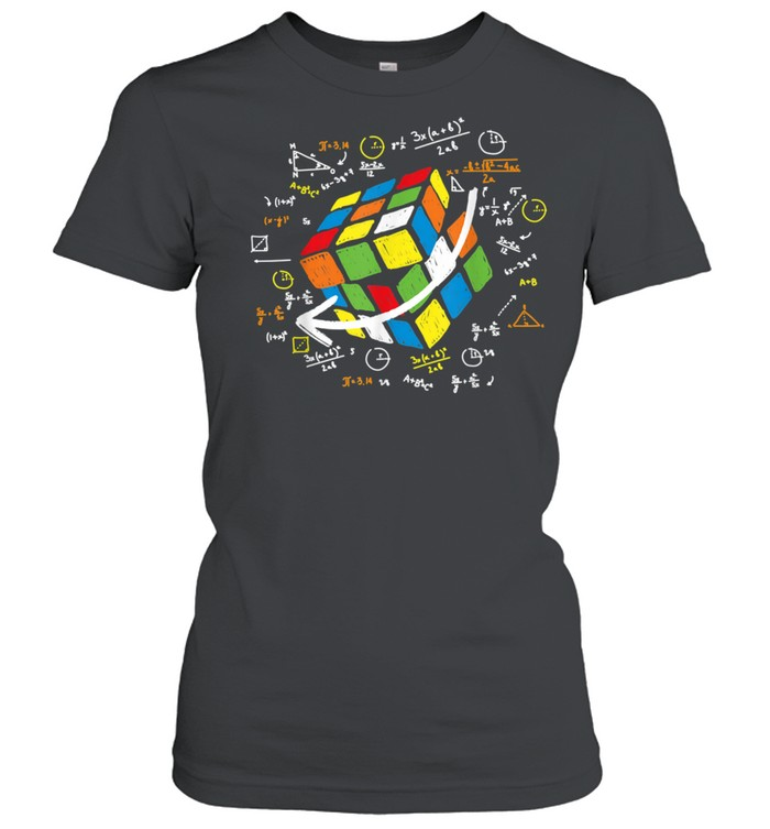 Cool Math Rubik Rubix Rubics Player Cube Maths shirt Classic Women's T-shirt