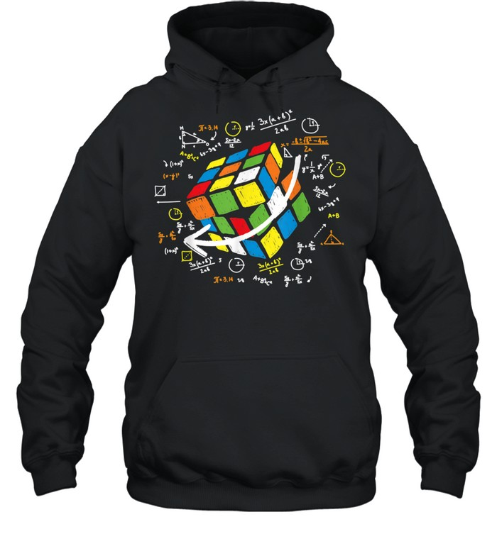 Cool Math Rubik Rubix Rubics Player Cube Maths shirt Unisex Hoodie