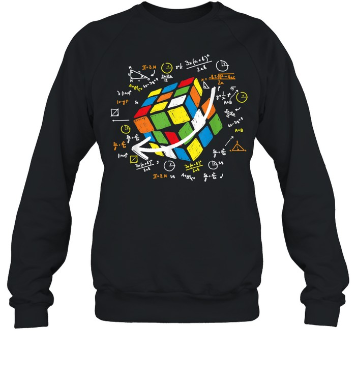 Cool Math Rubik Rubix Rubics Player Cube Maths shirt Unisex Sweatshirt