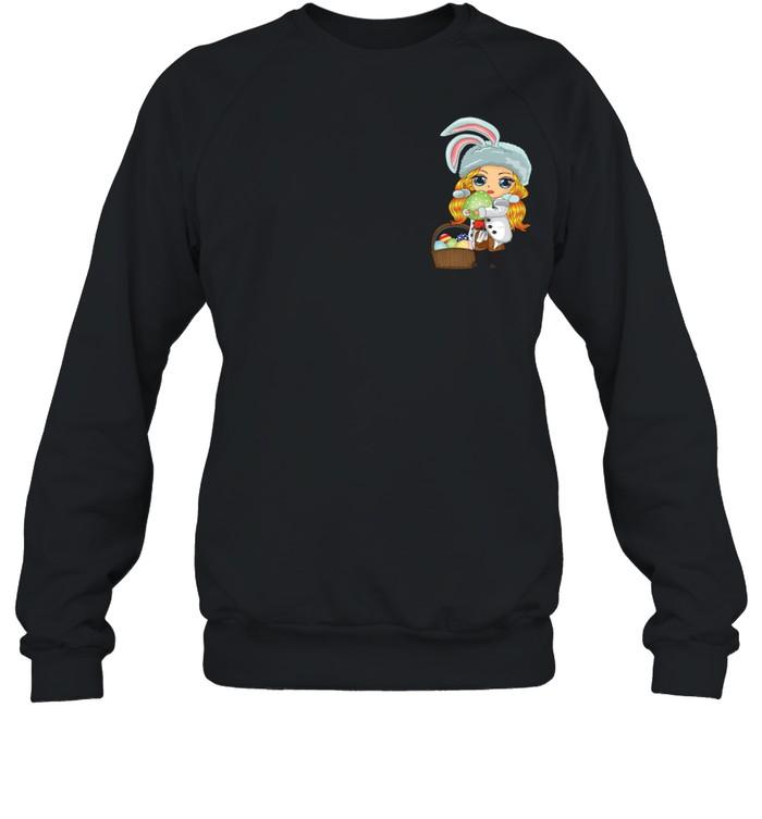 Easter Bunny Japanese Anime Manga Girln  Unisex Sweatshirt