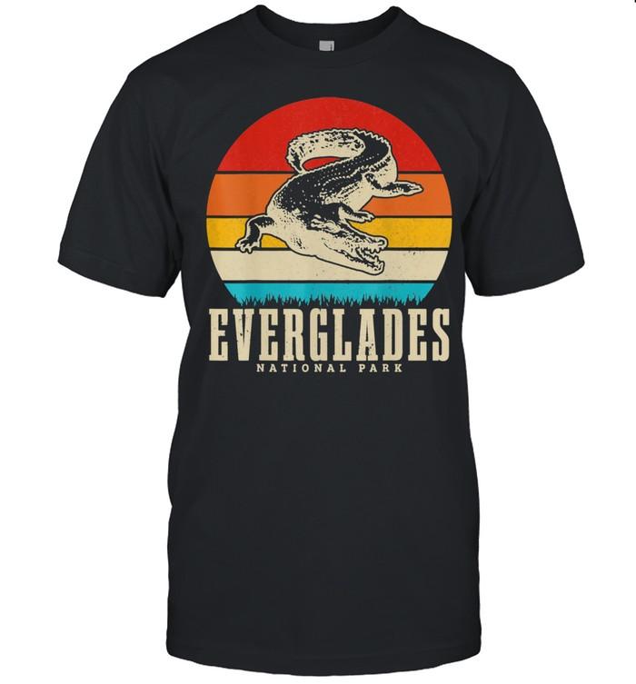 Everglades National Park USA Krokodil Florida Vintage  Classic Men's T-shirt