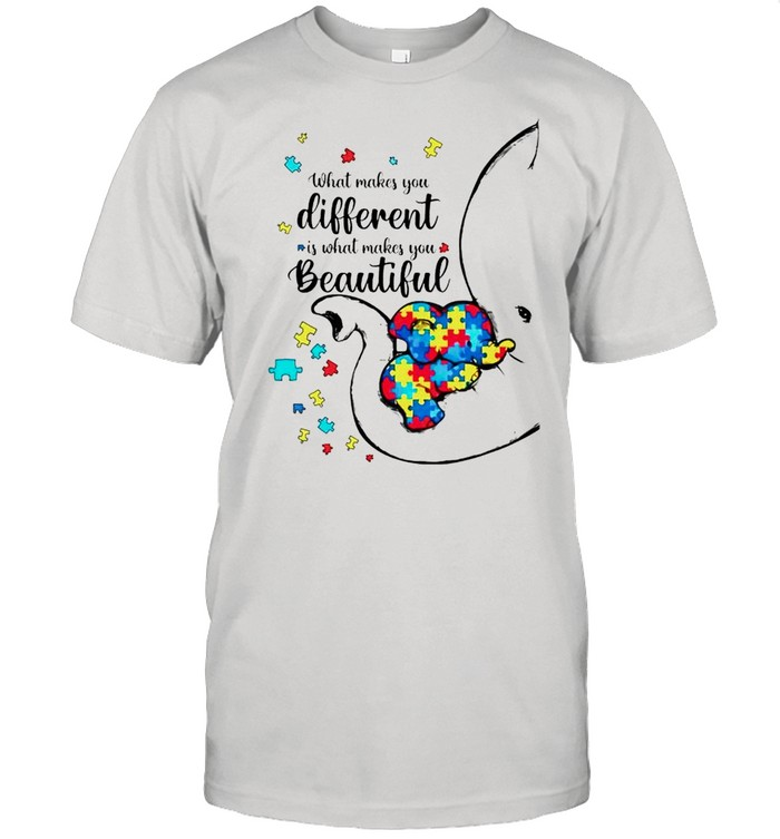 Autism elephant what makes you different is what makes you beautiful shirt Classic Men's T-shirt