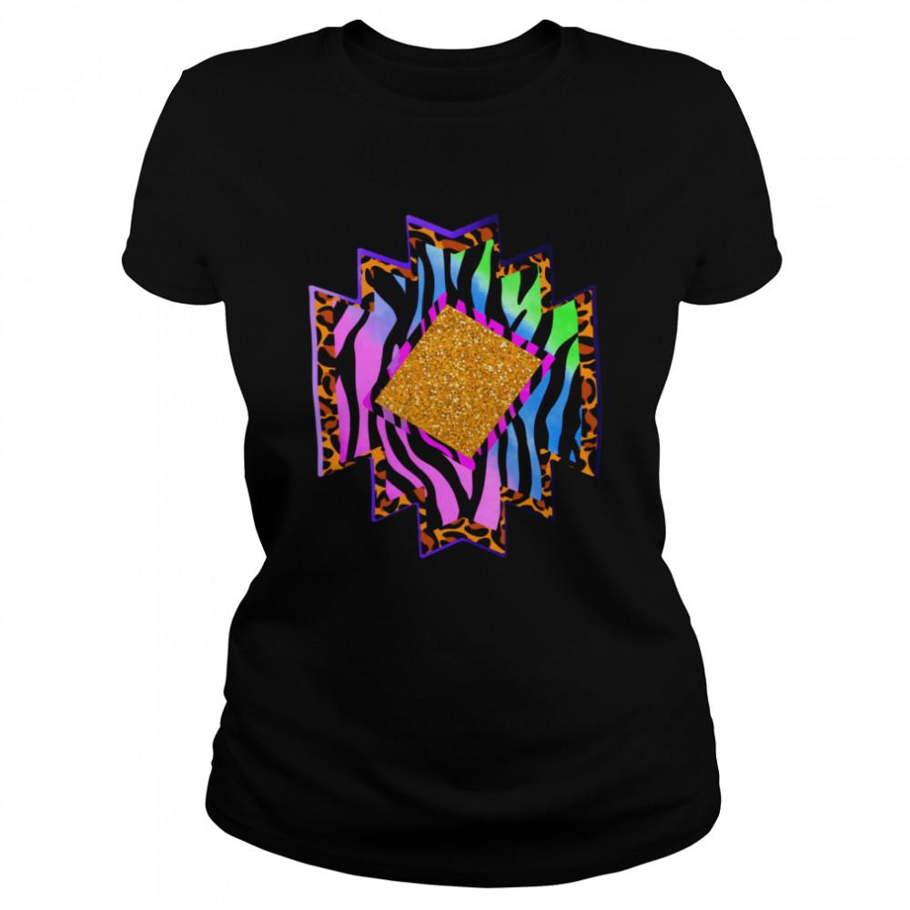 Aztec country shape western rodeo cheetah serape shirt Classic Women's T-shirt
